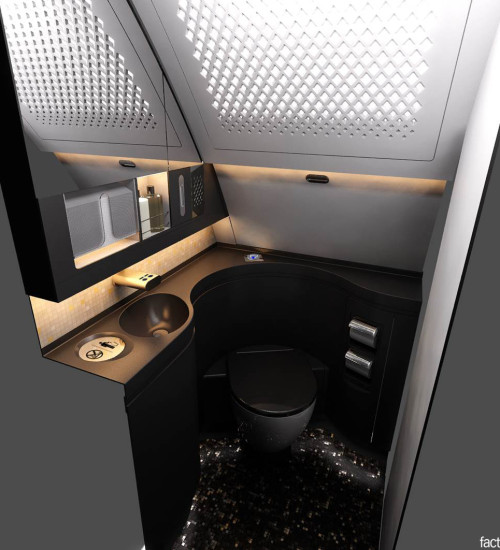 Factorydesign Business Class Lavatory Render